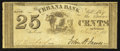 Obsoletes By State:Ohio, Urbana, OH- The Urbana Bank 25¢ June 1, 1837 Wolka 2674-03. ...