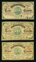 Obsoletes By State:Ohio, Painesville, OH- The Incorporated Village of Painesville at theBank of Geauga 5¢; 10¢ (2) Dec. 1, 1862 Wolka 2170-01; -02 (...(Total: 3 notes)