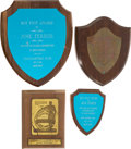 Movie/TV Memorabilia:Awards, A José Ferrer Group of Awards, 1950s-1960s.... (Total: 4 Items)