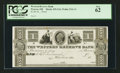 Obsoletes By State:Ohio, Warren, OH- The Western Reserve Bank $1 Haxby 435-G16 Wolka 2741-11Proof. ...