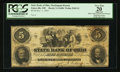 Obsoletes By State:Ohio, Zanesville, OH- The State Bank of Ohio, Muskingum Branch $5 Nov. 1,1863 G1680 Wolka 2949-21. ...