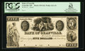 Obsoletes By State:Ohio, Granville, OH- Bank of Granville-Granville Alexandrian Society $5G42 Wolka 1211-10 Proof. ...