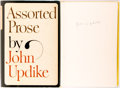 Books:Literature 1900-up, John Updike. SIGNED. Assorted Prose. New York: Knopf, 1965. First edition, first printing. Signed by the author on...