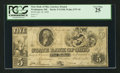 Obsoletes By State:Ohio, Washington, OH- The State Bank of Ohio, Guernsey Branch $5 July 18,1848 G1548 Wolka 2757-18. ...