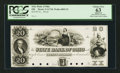Obsoletes By State:Ohio, Columbus, OH- The State Bank of Ohio Generic (Fill-in) Branch $20G1718 Wolka 0895-15 Proof. ...