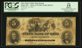 Obsoletes By State:Ohio, Piqua, OH- The State Bank of Ohio, Piqua Branch $5 Jan. 18, 1861G1128a Wolka 2206-26. ...