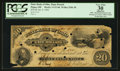 Obsoletes By State:Ohio, Piqua, OH- The State Bank of Ohio, Piqua Branch $20 Jan. 8, 1862G1140 (SENC) Wolka 2206-38. ...