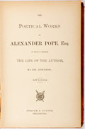 Books:Literature Pre-1900, Alexander Pope. Poetical Works. Philadelphia: Porter &Coates, [1716]. New edition. Bound in a later full sheep with...