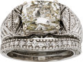 Estate Jewelry:Rings, Diamond, White Gold Ring Set. ...