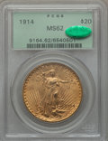 Saint-Gaudens Double Eagles, 1914 $20 MS62 PCGS. CAC....