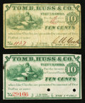 Obsoletes By State:Ohio, Tiffin, OH- C. M. Yerk at Tomb, Huss & Co. 10¢ Nov. 1, 1862Wolka 2545-02, Two Examples. ... (Total: 2 notes)