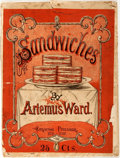 Books:Literature Pre-1900, Artemus Ward. Sandwiches. New York: Cableton, [1870]. Firstedition, first printing. Quarto. Publisher's printed wra...