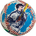Baseball Collectibles:Balls, 1993 Don Mattingly Original Baseball Artwork by LeRoy Neiman....