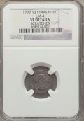 Early Half Dimes, 1797 H10C 13 Stars -- Scratches -- NGC Details. VF. V-1, LM-4,R.5....