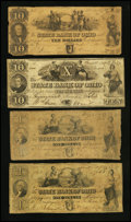 Obsoletes By State:Ohio, Toledo, OH- The State Bank of Ohio, Commercial Branch Counterfeits$1 (2); $10 (2) 1847-49 C1398 (2); C1426; C1428 Wolka 257...(Total: 4 notes)
