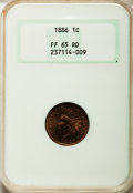 Proof Indian Cents, 1886 1C Type One PR65 Red NGC....