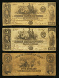 Obsoletes By State:Ohio, Troy, OH- The State Bank of Ohio, Miami County Branch Counterfeit$5 (3) 1847-54 C1508 (SENC) (2); UNL Wolka 2590-21 (2); -2...(Total: 3 notes)