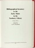 Books:Reference & Bibliography, [Bibliography]. D.W. Krummel, editor. Bibliographical Inventoryto the Early Music in the Newberry Library. Boston: ...