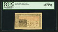 Colonial Notes:New Jersey, New Jersey March 25, 1776 15s PCGS Gem New 66PPQ.. ...