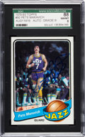 Basketball Cards:Singles (1970-1979), Signed 1979 Topps Pete Maravich #60 SGC 88 NM/MT 8, Autograph Mint9. ...