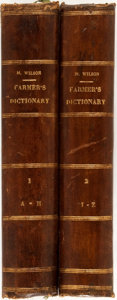Books:Reference & Bibliography, [Dictionaries]. John M. Wilson, editor. The Farmer's Dictionary;or a Cyclopedia of Agriculture. Edinburgh: A. Fulla... (Total:2 Items)