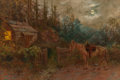 Paintings, HENRY RASCHEN (American, 1856-1937). An Evening Visit. Oil on canvas. 20-1/8 x 30-1/8 inches (51.1 x 76.5 cm). Signed lo...
