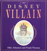 Ollie Johnston and Frank Thomas The Disney Villain Signed Hardcover Book (Hyperion, 1993)