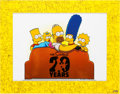 Animation Art:Seriograph, The Simpsons 20th Anniversary Sericel with SimpsonsFamily Pin Group (Fox, 2009).... (Total: 2 Items)