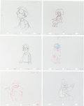 Animation Art:Production Drawing, The Simpsons Animation Drawing Original Art Group (Fox,1995-2006).... (Total: 6 Items)