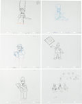 Animation Art:Production Drawing, The Simpsons Animation Drawing Original Art Group (Fox,1996-2005).... (Total: 12 Items)