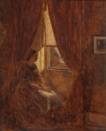Paintings, WILLIAM J. HENNESSY (British/American, 1839-1917). By the Window, 1861. Oil on canvas. 8 x 10 inches (20.3 x 25.4 cm). S...