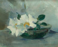 Fine Art - Painting, American:Antique  (Pre 1900), LAURA COOMBS HILLS (American, 1859-1952). Stil Life with WildRoses, circa 1885. Oil on canvas. 8 x 10 inches (20.3 x 25...