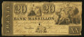 Obsoletes By State:Ohio, Massillon, OH- The Bank of Massillon $20 Apr. 1, 1840 Wolka1609-15. ...
