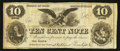 Obsoletes By State:Ohio, Monroeville, OH- Stebbins, Prentiss & Co. 10¢ Remainder Wolka1709-02. ...