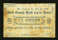 Obsoletes By State:Ohio, Mount Vernon, OH- J.C. Briles(?) at the Knox County Bank 75¢ Nov.25, 1862 Wolka 1742-05. ...
