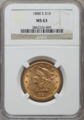 Liberty Eagles: , 1888-S $10 MS63 NGC. NGC Census: (78/4). PCGS Population (143/3).Mintage: 648,700. Numismedia Wsl. Price for problem free ...