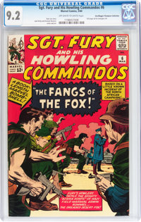 Sgt. Fury and His Howling Commandos #6 Don/Maggie Thompson Collection pedigree (Marvel, 1964) CGC NM- 9.2 Off-white to w...