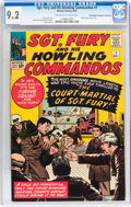 Silver Age (1956-1969):War, Sgt. Fury and His Howling Commandos #7 Don/Maggie Thompson Collection pedigree (Marvel, 1964) CGC NM- 9.2 Off-white to white p...