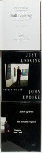 Books:Art & Architecture, John Updike. SIGNED. Three Titles About Art. Includes a UK and a French first edition of Just Looking: Essays on Art (1... (Total: 3 Items)