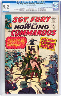 Sgt. Fury and His Howling Commandos #9 Don/Maggie Thompson Collection pedigree (Marvel, 1964) CGC NM- 9.2 Off-white to w...