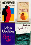 Books:Literature 1900-up, John Updike. SIGNED/INSCRIBED. Four Copies of Marry Me. Includes a UK first edition (Deutsch, 1977), an Australian f... (Total: 4 Items)