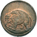 Colonials, (1694) TOKEN London Elephant Token, Thick Planchet MS64 Brown PCGS. CAC. Hodder 2-B, W-12040, R.2....