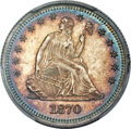 Proof Seated Quarters, 1870 25C PR66 Cameo PCGS....