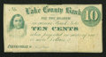 Obsoletes By State:Ohio, Painesville, OH- Unknown Issuer at the Lake County Bank 10¢ Nov. 1,1862 Wolka 2168-02. ...