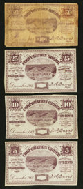 Obsoletes By State:Ohio, Chagrin Falls, OH- The Village of Chagrin Falls 5¢ Remainder; 10¢Remainder; 25¢ Remainder; 50¢ December, 1862 Wolka 0305-01...(Total: 4 notes)