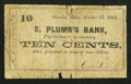 Obsoletes By State:Ohio, Oberlin, OH- E.J. Goodrich at S. Plumb's Bank 10¢ Oct. 15, 1862Wolka 2085-02. ...