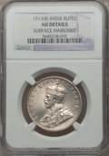 India:British India, India: British India. George V Rupee 1913 (b) AU Details (Surface Hairlines) NGC,...