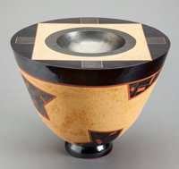 JAMES WATRAL (American, b. 1942) Neo-A, 1988 Earthenware, glazed in 1995 13 inches (33.0 cm) high