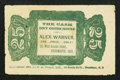 Obsoletes By State:Ohio, Portsmouth, OH- Alex Warner, The Cash Dry Goods House 25¢ Wolka2255-02. ...