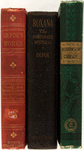 Books:Literature Pre-1900, Daniel Defoe. Three Titles. Includes: The Life and StrangeSurprising Adventures of Robinson Crusoe; Roxana The Fortunate ...(Total: 3 Items)